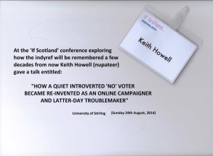 A talk given by Keith Howell at the 'If Scotland' conference at University of Stirling