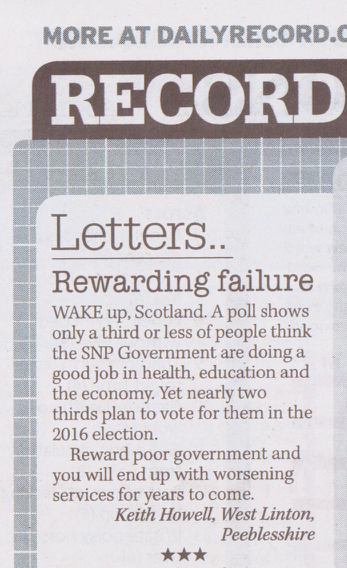Rewarding failure in The Daily Record